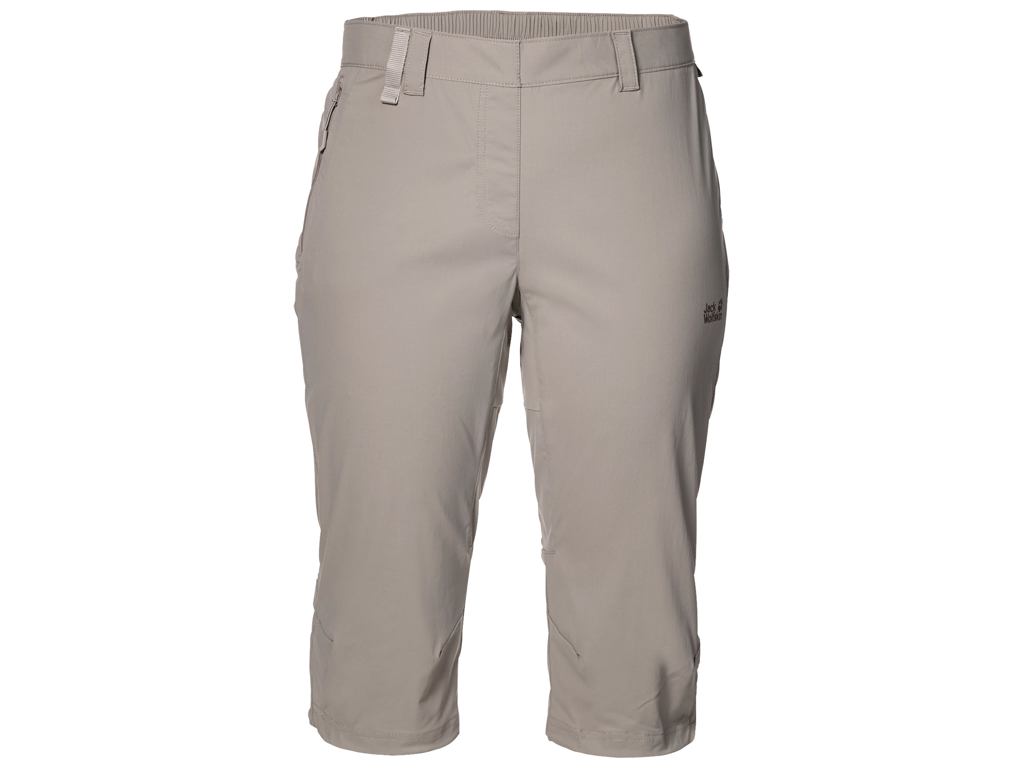 Jack Wolfskin Activate Light 3/4 Shorts - Dame Str. 36 - Moon rock