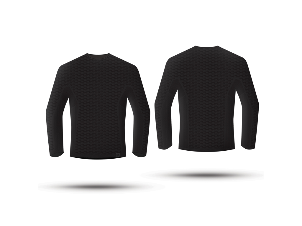 GripGrab Freedom Seamless Thermal Base Layer LS 6011 - Svedundertrøje - Unisex - Sort - St